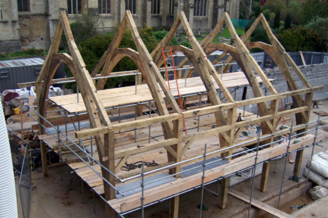Timber Framed Buildings Cornwall - Belerion Oak Framing - Redruth, Cornwall