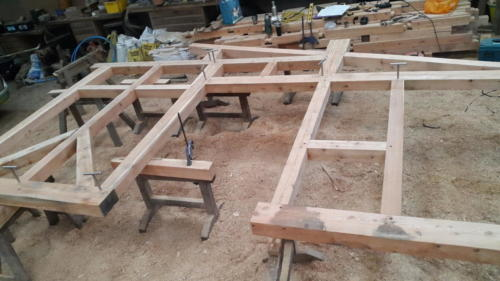 old growth larch frame